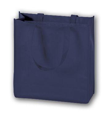 Navy Unprinted Non-Woven Tote Bags, 13 x 5 x 13