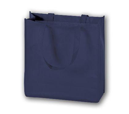 """Navy Unprinted Non-Woven Tote Bags, 13 x 5 x 13"""""""