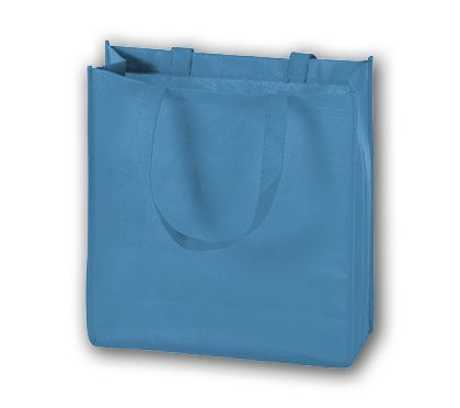 Cool Blue Unprinted Non-Woven Tote Bags, 13 x 5 x 13""