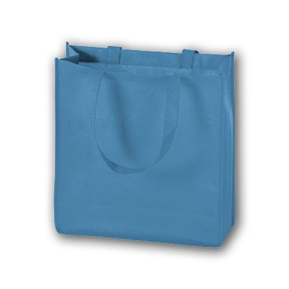 Cool Blue Unprinted Non-Woven Tote Bags, 13 x 5 x 13