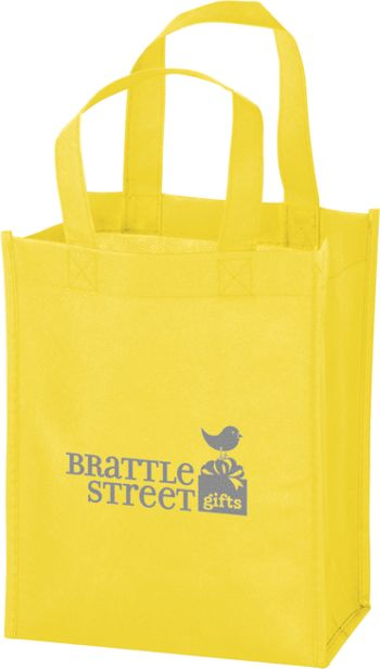 Yellow Non-Woven Tote Bags, 8 x 4 x 10