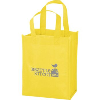 Yellow Non-Woven Tote Bags, 8 x 4 x 10""