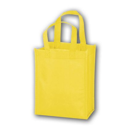 Yellow Unprinted Non-Woven Tote Bags, 8 x 4 x 10