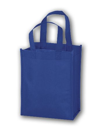 Royal Blue Unprinted Non-Woven Tote Bags, 8 x 4 x 10