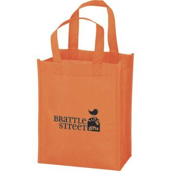Orange Non-Woven Tote Bags, 8 x 4 x 10