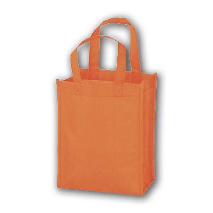 Orange Unprinted Non-Woven Tote Bags, 8 x 4 x 10