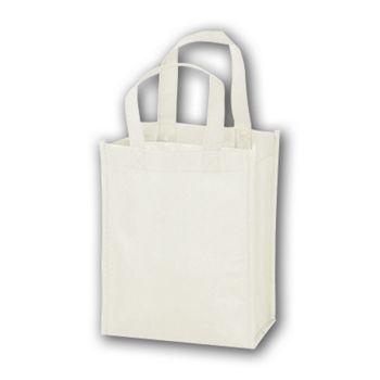 White Unprinted Non-Woven Tote Bags, 8 x 4 x 10