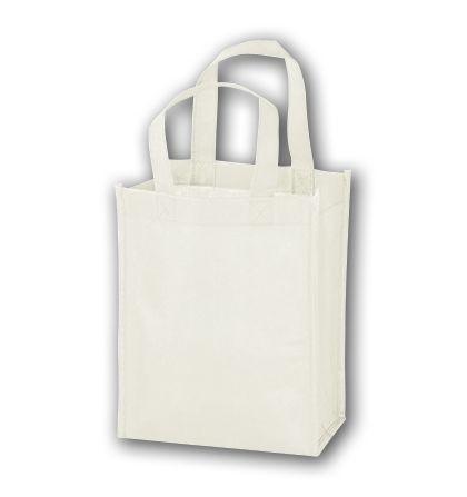 """White Unprinted Non-Woven Tote Bags, 8 x 4 x 10"""""""