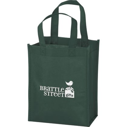 Hunter Green Non-Woven Tote Bags, 8 x 4 x 10""