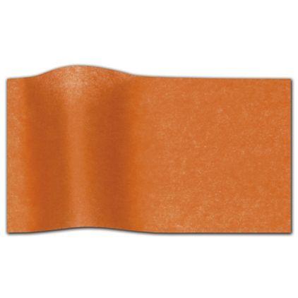 "Orange Waxed Tissue Paper, 20 x 30"""