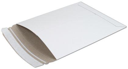 "White Fiberboard Self-Seal Shipping Mailer, 6 x 8"""