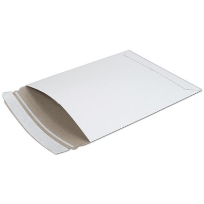 White Fiberboard Self-Seal Shipping Mailer, 6 x 8""