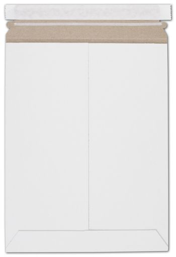 White Fiberboard Self-Seal Shipping Mailer, 9 x 11 1/2
