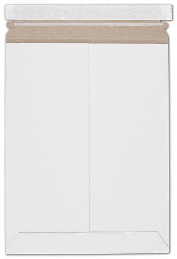 White Fiberboard Self-Seal Shipping Mailer, 9 x 11 1/2