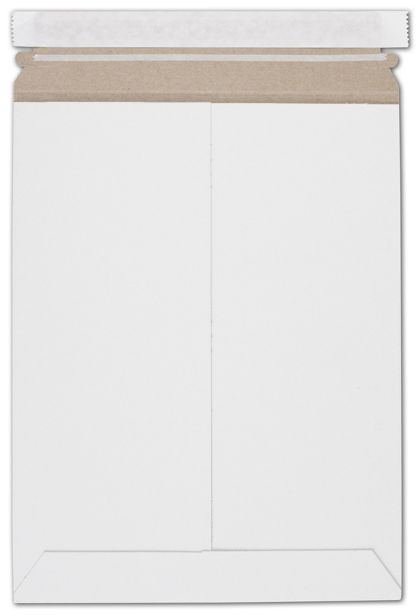 White Fiberboard Self-Seal Shipping Mailer, 9 x 11 1/2""