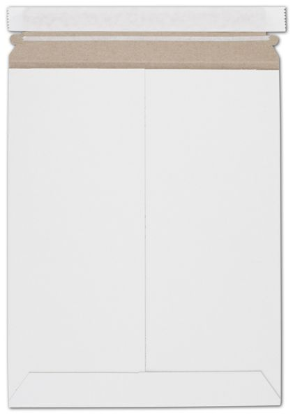 White Fiberboard Self-Seal Shipping Mailer, 9 3/4 x 12 1/4""