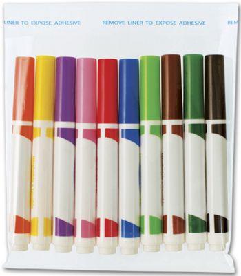 Clear Polypropylene Bags w/ Adhesive Lip, 6 1/2x6 1/2