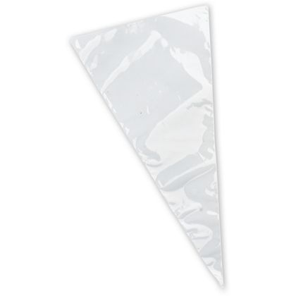 Clear Polypropylene Cone Bags, 6 x 12