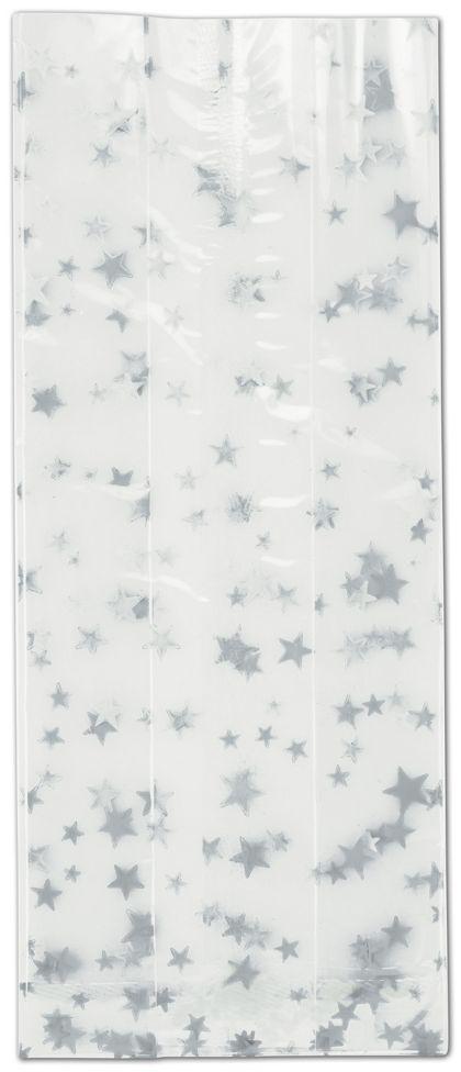 """Silver Stars Cello Bags, 4 x 2 1/2 x 9 1/2"""""""