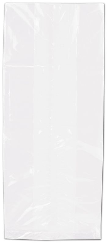 Clear Polypropylene Bags Gusseted, 4 x 9