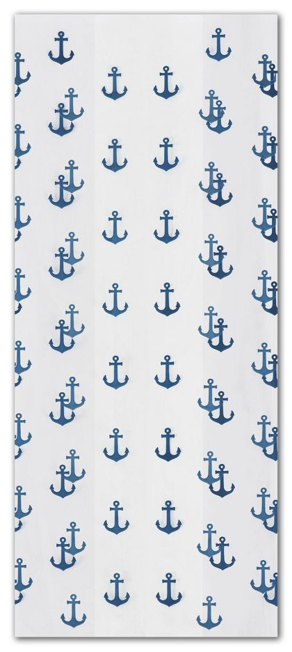 Anchors Away Navy Cello Bags, 4 x 2 1/2 x 9 1/2""