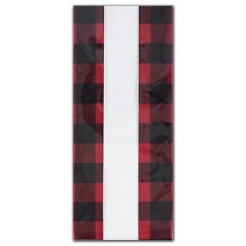 Buffalo Plaid Cello Bags, 4 x 2 1/2 x 9 1/2