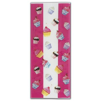 Cupcake Party Cello Bags, 4 x 2 1/2 x 9 1/2
