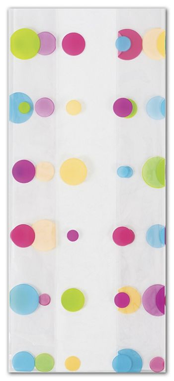 Dotty Spring Cello Bags, 4 x 2 1/2 x 9 1/2