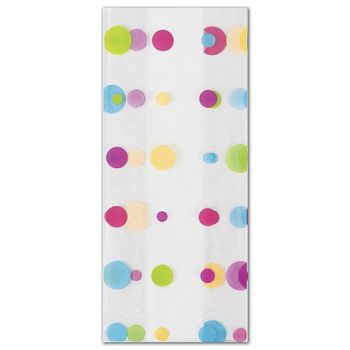 Dotty Spring Cello Bags, 4 x 2 1/2 x 9 1/2""