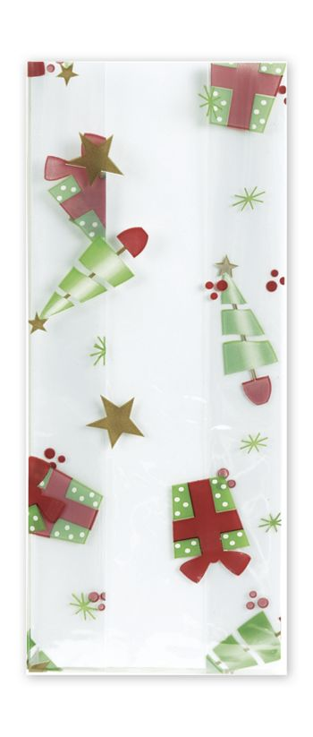 Deck the Halls Cello Bags, 4 x 2 1/2 x 9 1/2