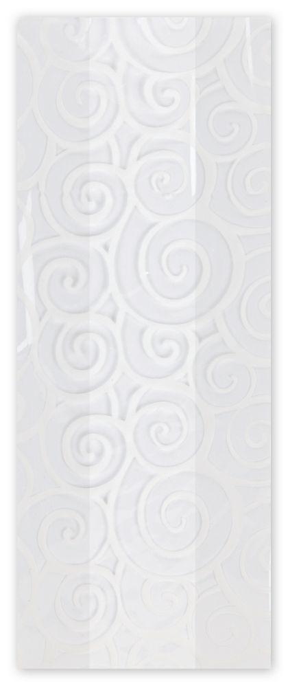 """Euro Swirl White Cello Bags, 4 x 2 1/2 x 9 1/2"""""""