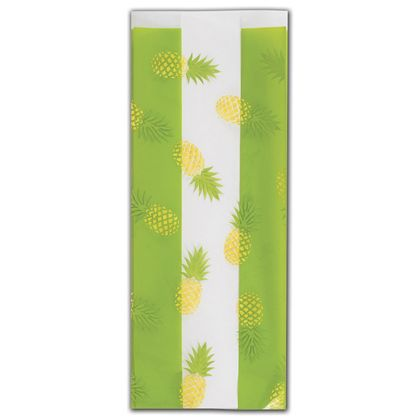 Party Like a Pineapple Cello Bags, 4 x 2 1/2 x 9 1/2""