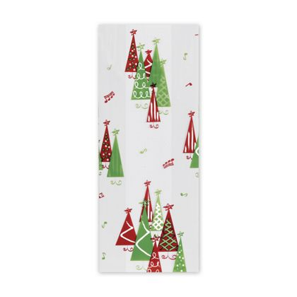 Rockin' Christmas Tree Cello Bags, 4 x 2 1/2 x 9 1/2