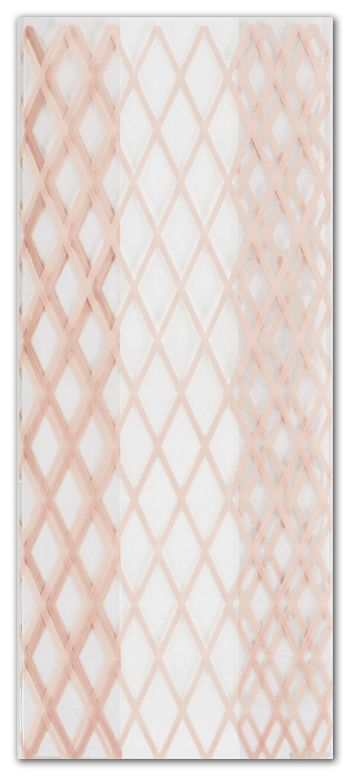 Rose Gold Lattice Cello Bags, 4 x 2 1/2 x 9 1/2