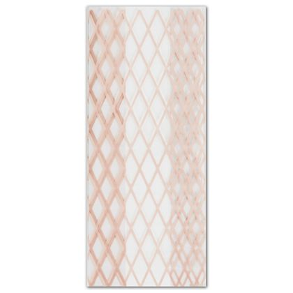 Rose Gold Lattice Cello Bags, 4 x 2 1/2 x 9 1/2""