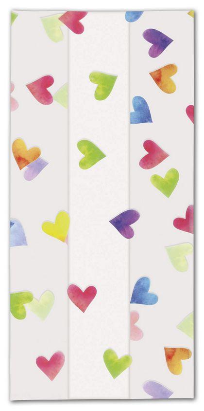 "Rainbow Hearts Cello Bags, 4 x 2 1/2 x 9 1/2"""