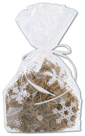 Snowflakes Cello Bags, 4 x 2 1/2 x 9 1/2
