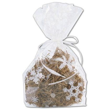 Snowflakes Cello Bags, 4 x 2 1/2 x 9 1/2