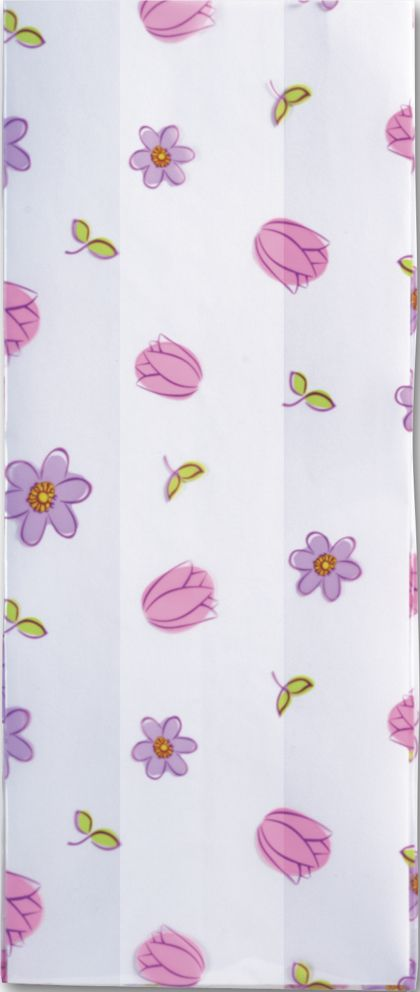 Simply Flowers Cello Bags, 4 x 2 1/2 x 9 1/2""