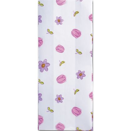 Simply Flowers Cello Bags, 4 x 2 1/2 x 9 1/2