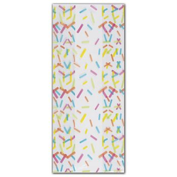 Candy Sprinkles Cello Bags, 4 x 2 1/2 x 9 1/2