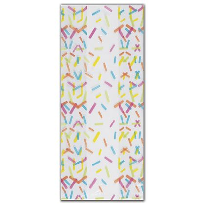Candy Sprinkles Cello Bags, 4 x 2 1/2 x 9 1/2""