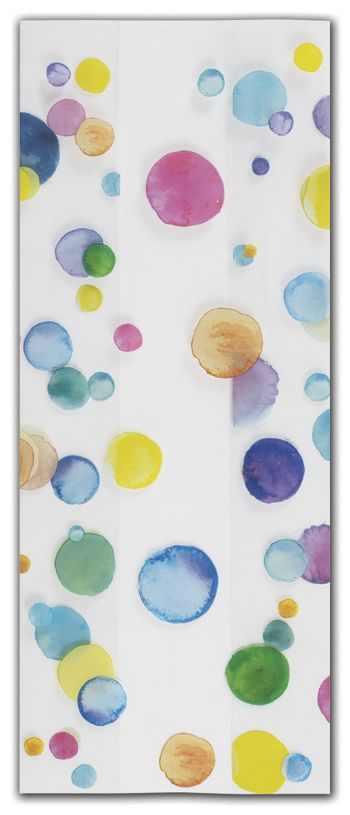 Watercolor Confetti Cello Bags, 4 x 2 1/2 x 9 1/2