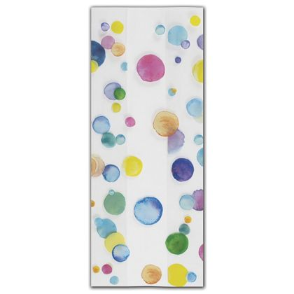 Watercolor Confetti Cello Bags, 4 x 2 1/2 x 9 1/2""