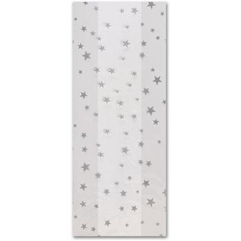 Silver Stars Cello Bags, 5 x 3 x 11 1/2