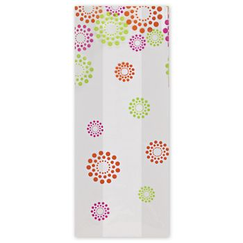Blooming Dots Cello Bags, 5 x 3 x 11 1/2