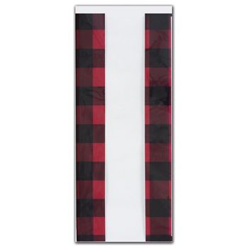 Buffalo Plaid Cello Bags, 5 x 3 x 11 1/2