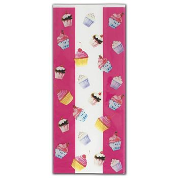 Cupcake Party Cello Bags, 5 x 3 x 11 1/2