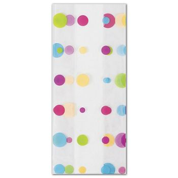 Dotty Spring Cello Bags, 5 x 3 x 11 1/2