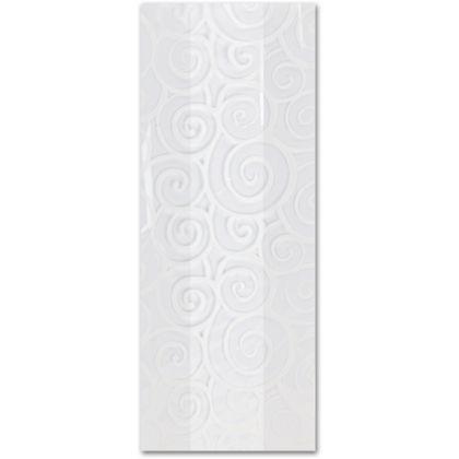 Euro Swirl White Cello Bags, 5 x 3 x 11 1/2